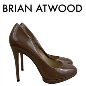 BRIAN ATWOOD BROWN PATENT HEELS SIZE 9
